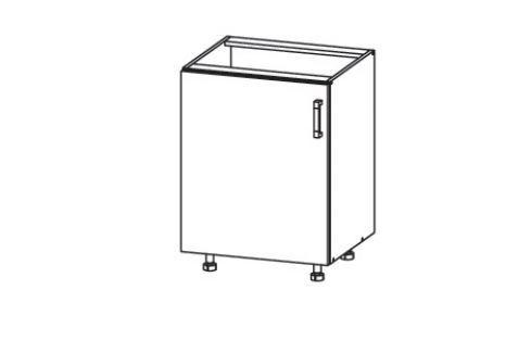 HAMPER dolní skříňka D60, korpus congo, dvířka dub sanremo světlý Kuchyňské dolní skříňky