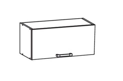 HAMPER horní skříňka GO80/36, korpus ořech guarneri, dvířka dub sanremo světlý Kuchyňské horní skříňky