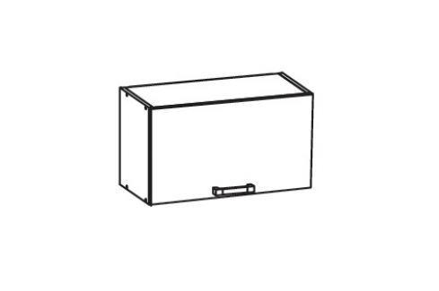 HAMPER horní skříňka GO60/36, korpus ořech guarneri, dvířka dub sanremo světlý Kuchyňské horní skříňky