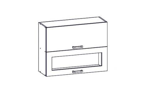 HAMPER horní skříňka G2O 80/72, korpus šedá grenola, dvířka dub sanremo světlý Kuchyňské horní skříňky
