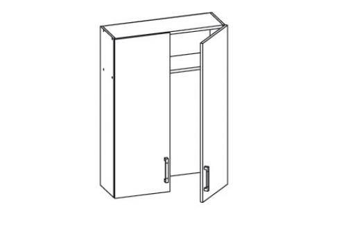 HAMPER horní skříňka GC80/95, korpus šedá grenola, dvířka dub sanremo světlý Kuchyňské horní skříňky