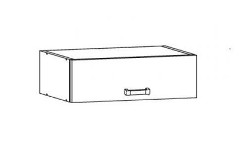 HAMPER horní skříňka NO60/23, korpus šedá grenola, dvířka dub sanremo světlý Kuchyňské horní skříňky