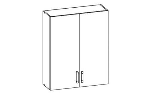 HAMPER horní skříňka G80/95, korpus šedá grenola, dvířka dub sanremo světlý Kuchyňské horní skříňky