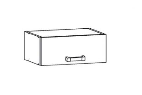 HAMPER horní skříňka NO40/23, korpus šedá grenola, dvířka dub sanremo světlý Kuchyňské horní skříňky