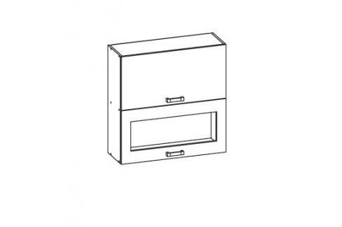 HAMPER horní skříňka G2O 60/72, korpus šedá grenola, dvířka dub sanremo světlý Kuchyňské horní skříňky