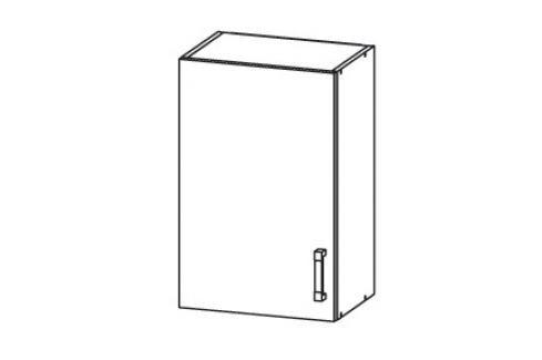 PLATE horní skříňka G50/72, korpus bílá alpská, dvířka dub bělený Kuchyňské horní skříňky