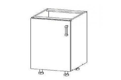 PLATE dolní skříňka D45, korpus ořech guarneri, dvířka dub bělený Kuchyňské dolní skříňky