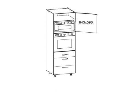 SOLE vysoká skříň DPS60/207 SMARTBOX pravá, korpus ořech guarneri, dvířka dub arlington Kuchyňské linky